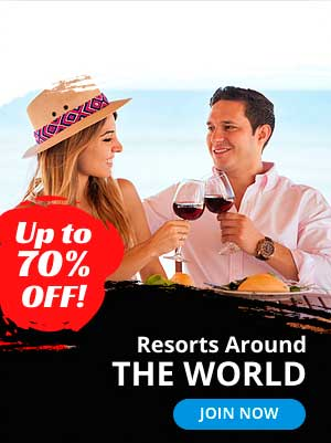 Up to 70% off. Resort Around the world.