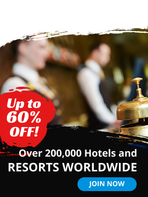 Up to 60% off. Over 200000. Hotels and resorts worldwide.