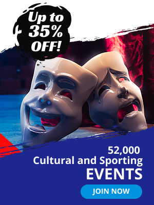 Up to 35% off. 52000 Cultural and sporting events