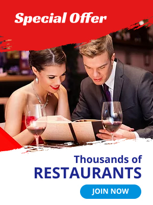 Special offer. Thousands of restaurants