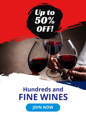 Up to 50% off. Hundreds and fine wines